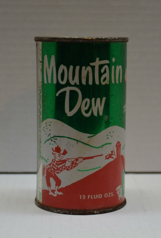 Vintage Mountain Dew 1960s Tab Top Can Willy The Hillbilly 12Oz New York