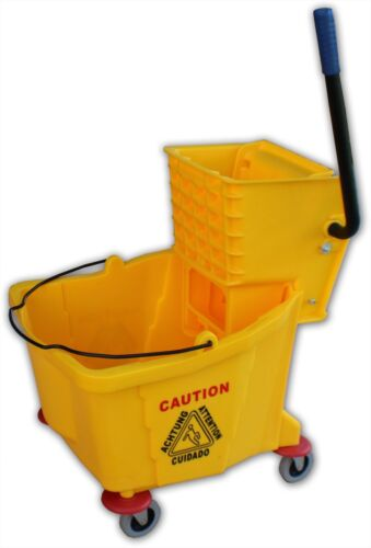 Mop Bucket & Wringer - Heavy Duty - 32 Quart Capacity