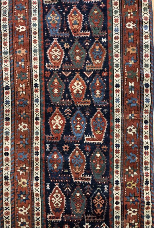 Special Shirvan - 1880s Antique Caucasian Rug - Tribal Runner - 3.2 X 8.2 Ft.