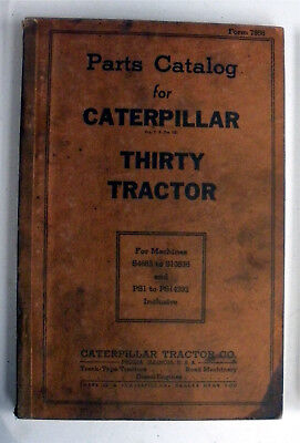 30 Thirty Tractor Caterpillar Parts Catalog S4683 To S10536 Ps1-ps14292 Inclusi