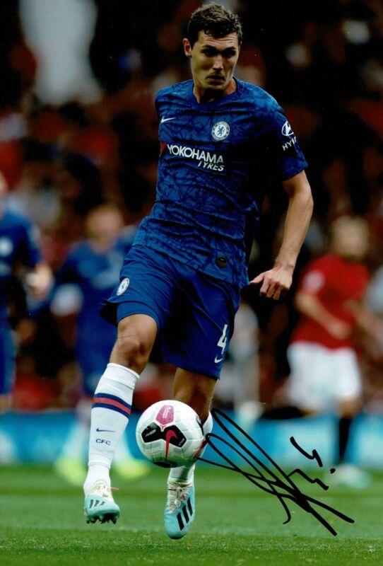 Andreas Christensen Signed 12X8 Photo Chelsea Genuine Signature AFTAL COA (9125)