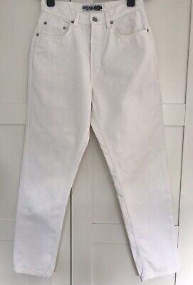 GAP White Jeans High Waist Vintage Mom Jeans Classic Fit Size 8
