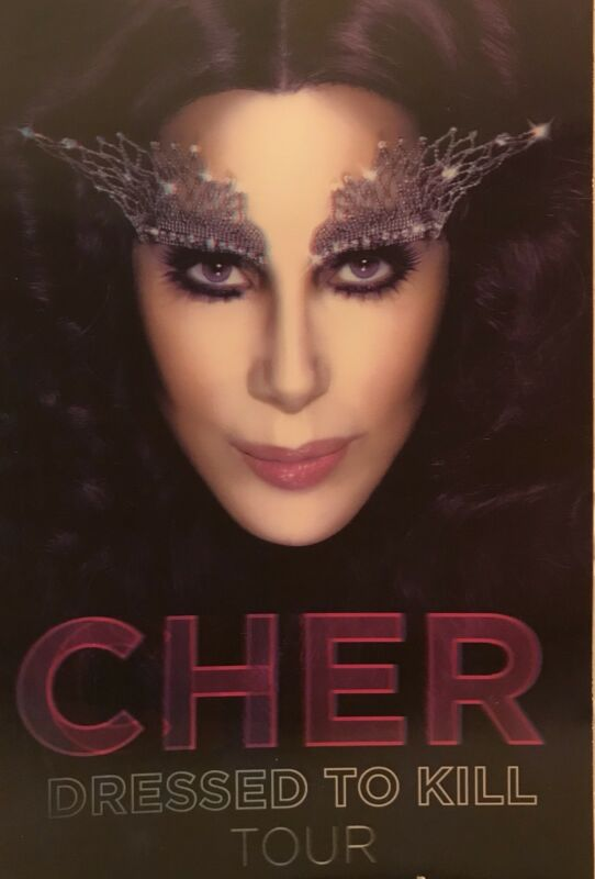 """CHER Dressed to Kill Tour 2014 3D Hologram Photo Board 11"""" x 17"""""""
