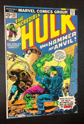 INCREDIBLE HULK #182 (Marvel 1974) -- 3rd Appearance Wolverine -- F