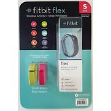 Fitbit Flex black Activity Tracker 2 extra replacement bands Pink & Green Small