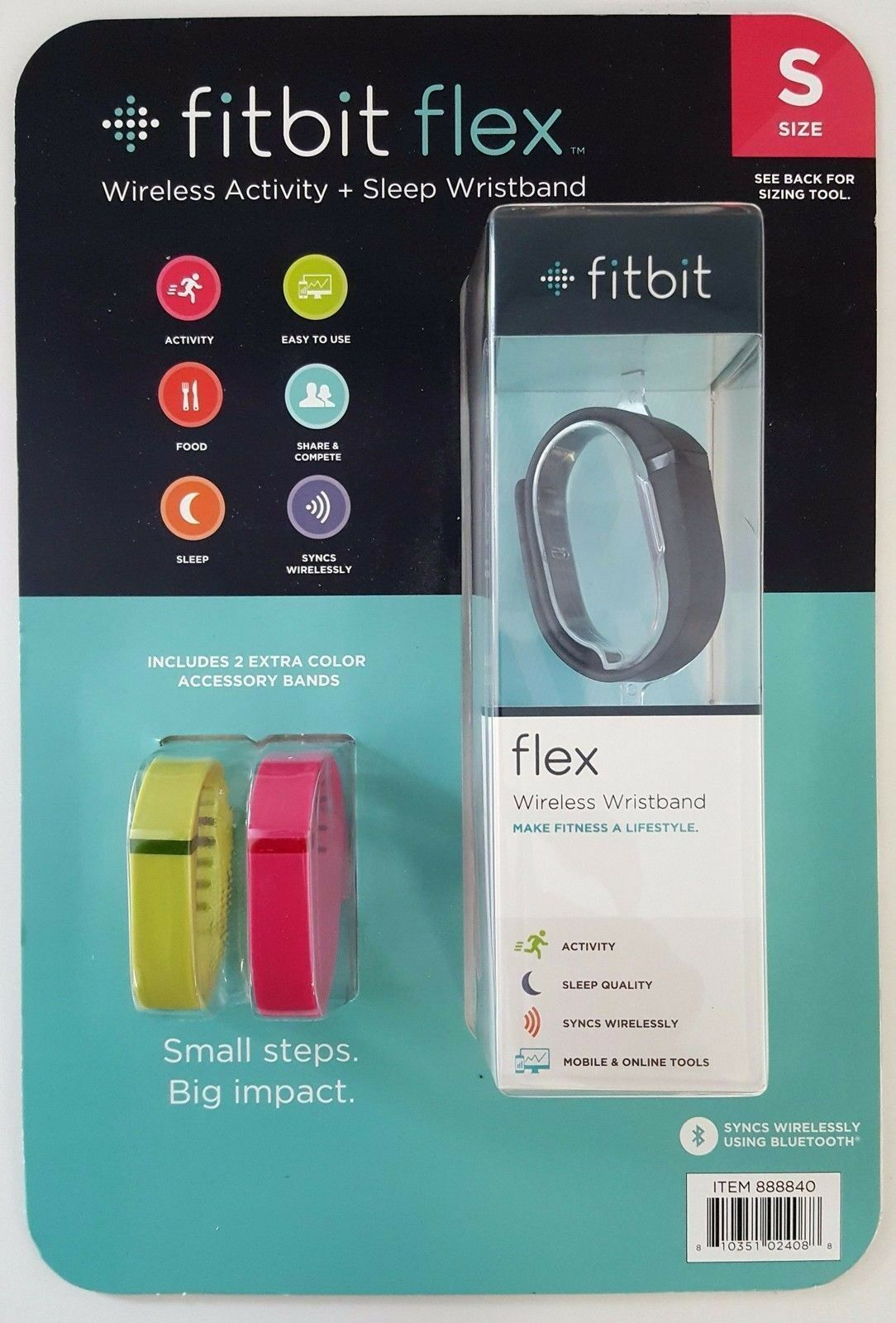 FITBIT Flex Wireless Activity and Sleep Wristband, Black