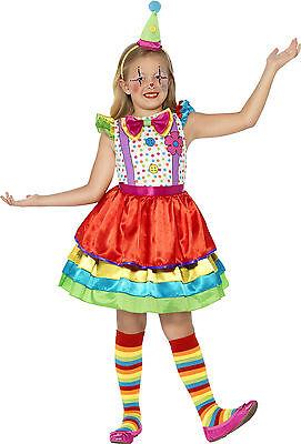 Happy Flower Clown Kostüm für Mädchen NEU - Mädchen Karneval Fasching Verkleidun