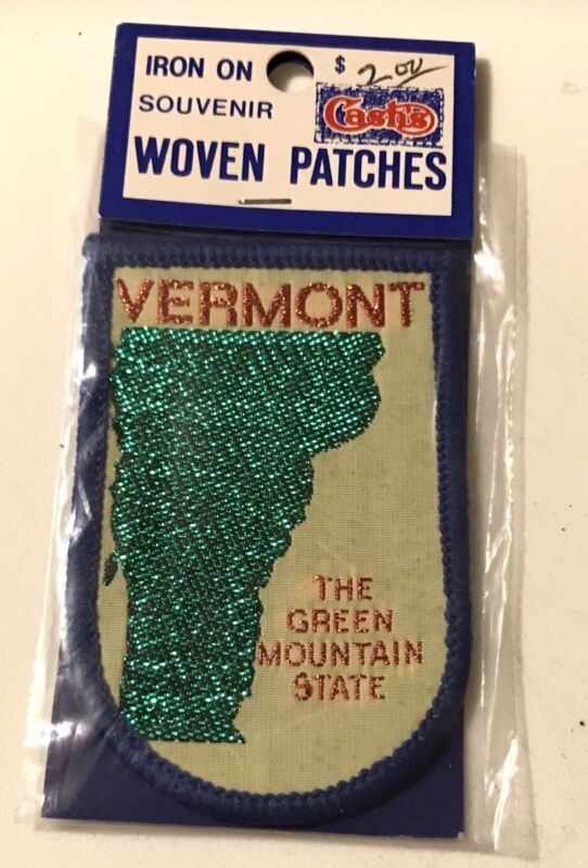 VERMONT THE GREEN MOUNTAIN STATE Patch NOS Resort Souvenir Travel UNUSED!