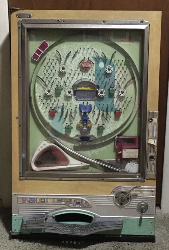 Rare Vintage Nishijin Pachinko Pinball Machine Not Working  W/Og Balls