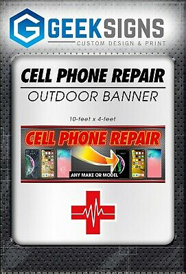 Cell Phone Repair Banner Sign Iphone Samsung Galaxy Ios Android Neon Alternative