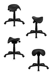 Adjustable Ergonomic Saddle Seat Stool. Medical, Dental, Salon Tattoo Shop Chair