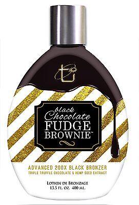 Black Chocolate Fudge Brownie Tanning Lotion with 200X Black Bronzer, 13.5 oz.