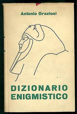 GRAZIOSI ANTONIO DIZIONARIO ENIGMISTICO SAS 1953 ENIGMISTICA