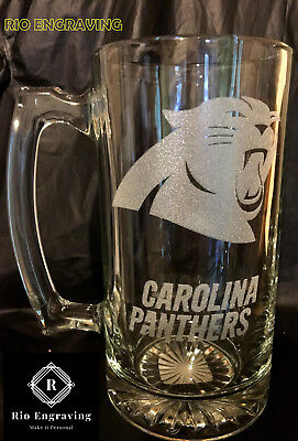 - CAROLINA PANTHERS sport Beer Mug 26.5 oz Personalized Laser Engraved FREE SHIPP