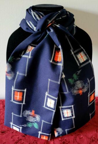 Japanese Wool Kasuri Dyed Fabric Scarf Handmade New with Tags S9630