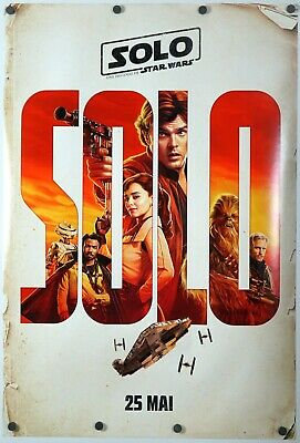 Solo A Star Wars Story - original DS movie poster - 27x40 D/S INTL FR CA