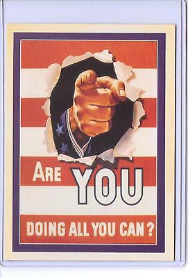 Vintage Are You Doing All You Can  Recruiter Advertising Reproduction Postcard