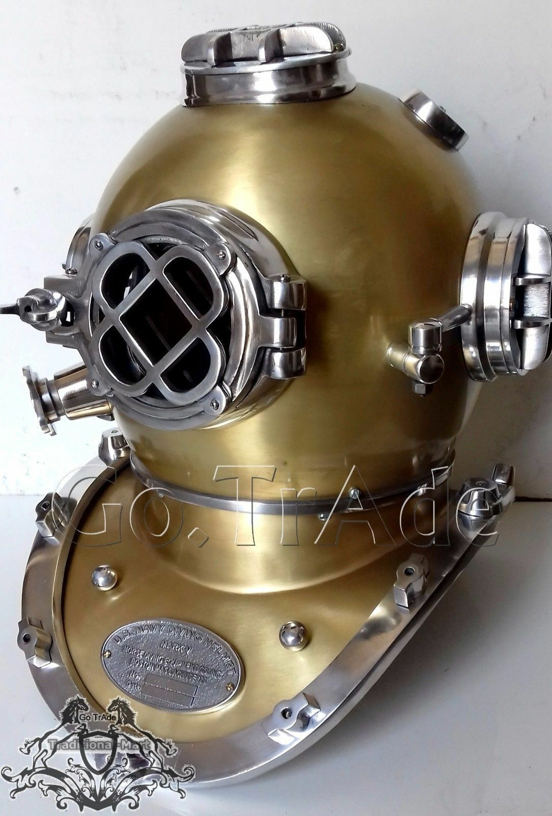 Vintage Antique Morse U.S Navy Diving Divers Helmet Solid Steel & Aluminium Gift