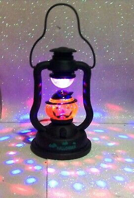 HALLOWEEN LANTERNA LUMINOSA EFFETTO DISCO ADDOBBO DECORO DECORATIVE