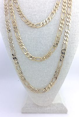 Figaro Link Chain Set Gold Plated 24