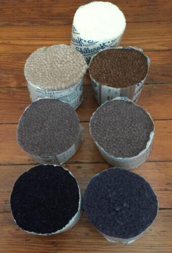 Shillcraft Latch Hook Rug Yarn 7 Bundles~100% Pure Wool~ Earth Tones!