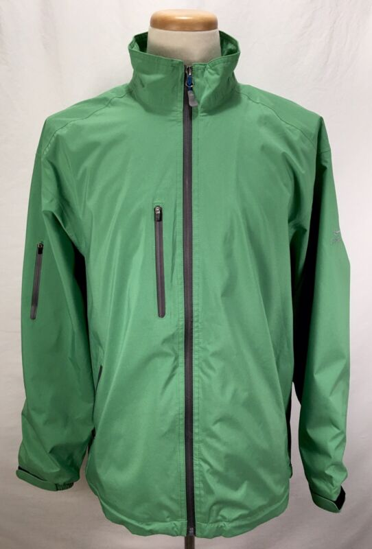Peter Millar Water Element 4 HIDEAWAY GOLF CLUB Full Zip Green Jacket Men