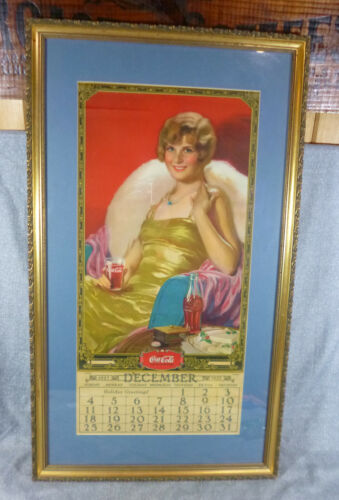 Vintage Antique Full Size 1928 Coca Cola Coke Advertising Calendar