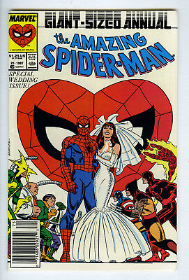 Amazing Spider-Man Annual 1987 # 21 High Grade 9.4 + Or Better WEDDING ISSUE