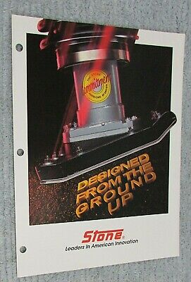 Old 1988 Stone Construction Equipment Ground Rammer Compactor Brochure Free Sh