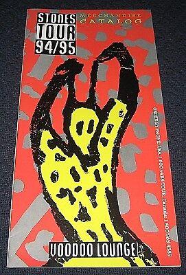 Vintage 1994/95 Rolling Stones Voodoo Lounge Tour Merchandise Catalog](Voodoo Merchandise)