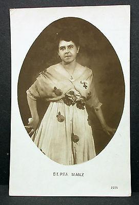 Bertha Manz Theater Oper Konzert Sängerin - Foto Autogramm-AK (Lot-H-5463
