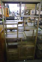 New Rustic Timber Vintage Oriental Bookcase Shelving Storage Unit Melbourne CBD Melbourne City Preview