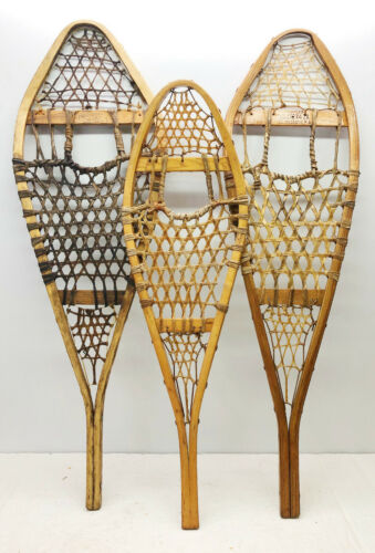 Lot Of 3 Different Single Snowshoes For Decor or Arts & Craft - FREE SHIPPING !