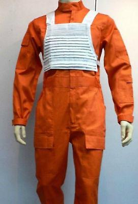 X-Wing Rebel Fighter Pilot Orange Jumpsuit + White Flak Vest Star Wars Costume L