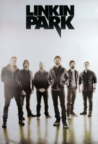 """LINKIN PARK """"MINUTES TO MIDNIGHT - GROUP STANDING UNDER LOGO"""" POSTER FROM ASIA"""