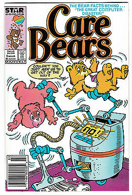 CARE BEARS #9 (NM-) Popular Toys/Cartoon Star Comics 1989 Hard to Find Issue