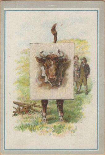 Victorian Trade Card-Ware & Obrien Shoes-Kalamazoo, MI-Bull & Artist Series