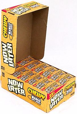 Now and Later Chewy Mango Candy Chews Box of 24 (6-Piece) Bars Bulk Taffy