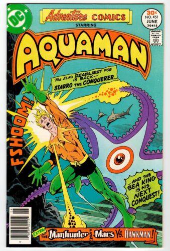 ADVENTURE COMICS #451 - NM- June 1977 Vintage DC Comic