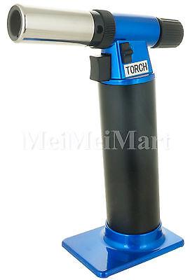Blue Single Torch Table Top Jet Lighter Butane 1300°C/2500°F Individual Box BL8