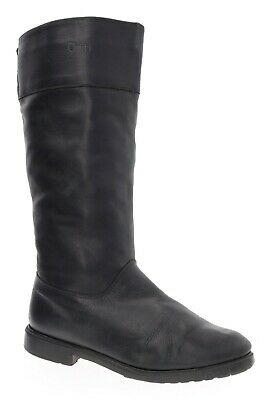 ORVIS Boots 9 B Womens Knee High Tall Leather Shearling Lined Sheepskin Fur Boot