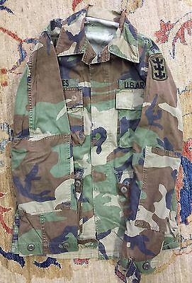 Veste militaire camouflÉe armÉe amÉricaine us army années 80 vintage chasse
