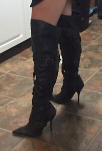 Black Stiletto Knee-high Boot $30OBO