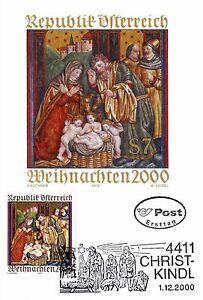 2000 - JAHRTAUSENDWENDE - CHRISTKINDL - ERSTTAGSKARTE - TOP!!! - <span itemprop=availableAtOrFrom>Neuzeug, Österreich</span> - 2000 - JAHRTAUSENDWENDE - CHRISTKINDL - ERSTTAGSKARTE - TOP!!! - Neuzeug, Österreich