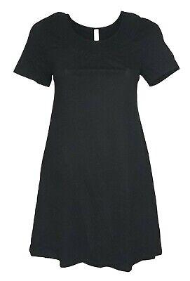 Schwarzes Damen-kleid-shirt (SHEEGO Damen Kleid Shirtkleid Strandkleid schwarz GR. 44 46 NEU - K131)