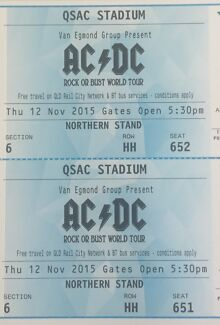 AC/DC tickets  Warner Pine Rivers Area Preview