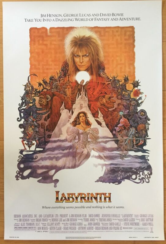 Labyrinth David Bowie Movie Promo Reproduction Poster 24 x 36