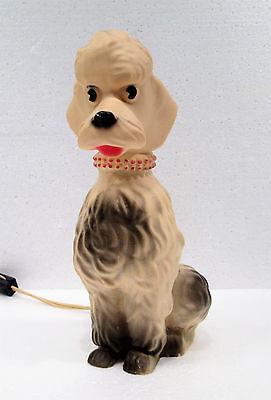 "Vintage Rare NAN-SAN Poodle Night Light Table Lamp 9"" Tall *Works* 50's"