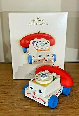 ☎️MINT!! 2009 Hallmark Fisher Price CHATTER Telephone Ornament RINGS! Full Size