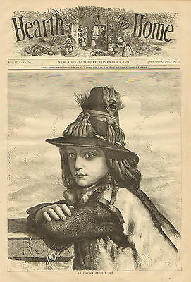Italy, Italian Peasant Boy, Traditional Costume, Vintage 1871 Antique Art Print,](Italian Peasant Costume)